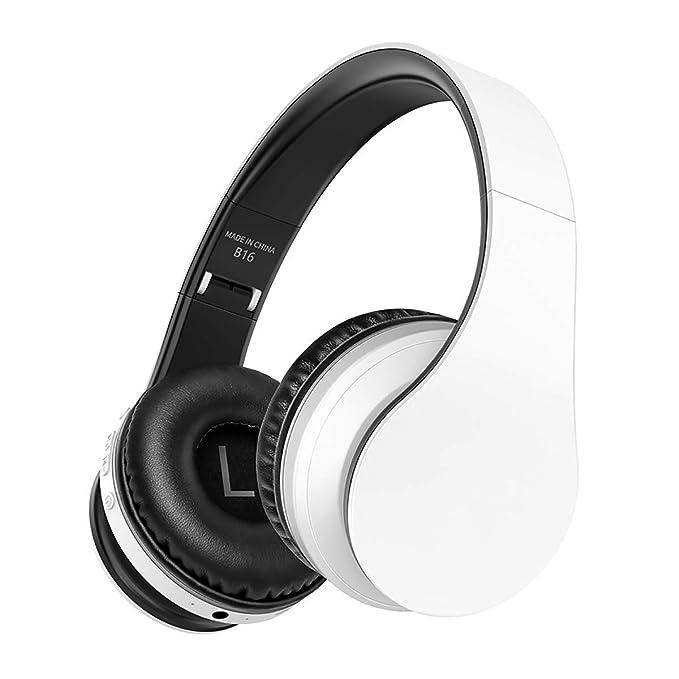 WONFAST Audífonos Bluetooth sobre la oreja, auriculares ...