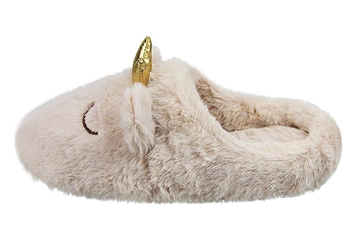 Amazon.com: Lady invierno cálido novedad Corona Zapatillas ...