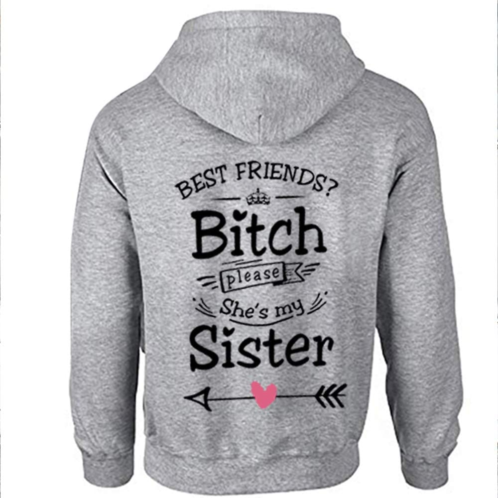 pour Femme Sister Hoodies BFF pour Best Friends TAAIWO 1 Pull /à Capuche Sister pour Deux Filles Beste Freunde Pull