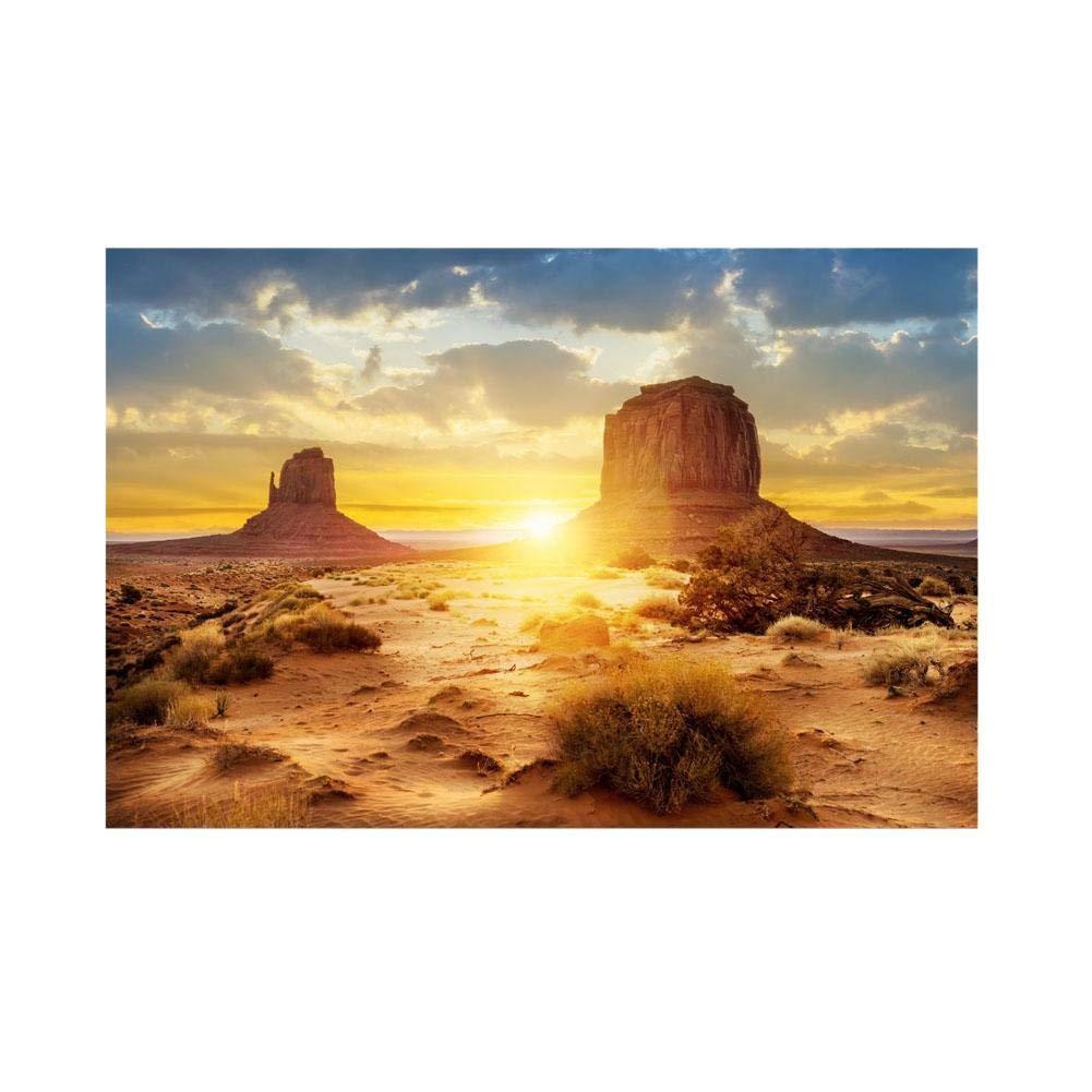 Aquarium Fish Tank Background Poster Sun and Desert Style PVC Adhesive Decor Paper Sticker