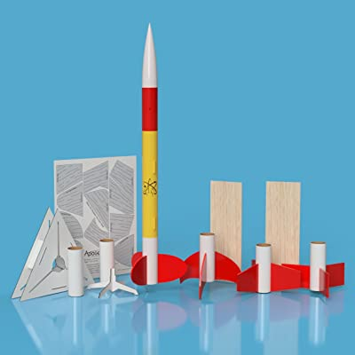 Apogee Rocket Fin Shape Science Experiment Kit: Toys & Games