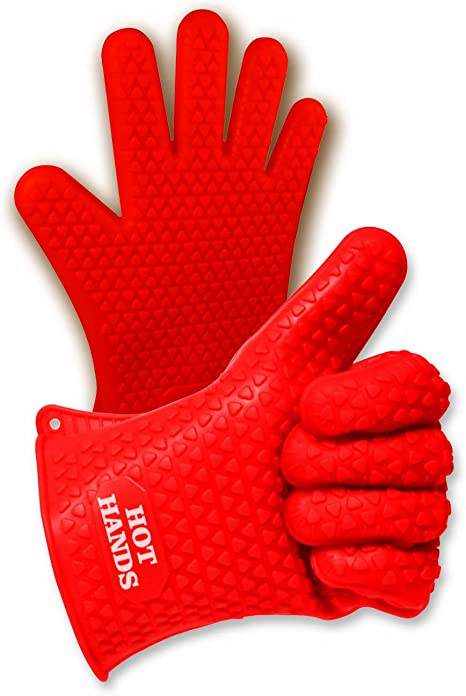 1PC BBQ Oven Gloves Single Kitchen Heat Proof Silicon Mitts Hot Surface Handler