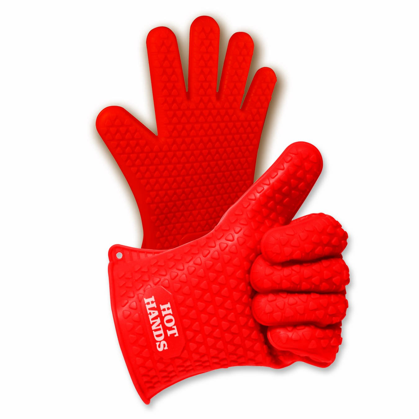 Ontel Hot Hands Heat Resistant Silicone Gloves Mitts for Grilling, BBQ, Kitchen, Cooking, Baking, Pots, Pans, Smoking and Oven