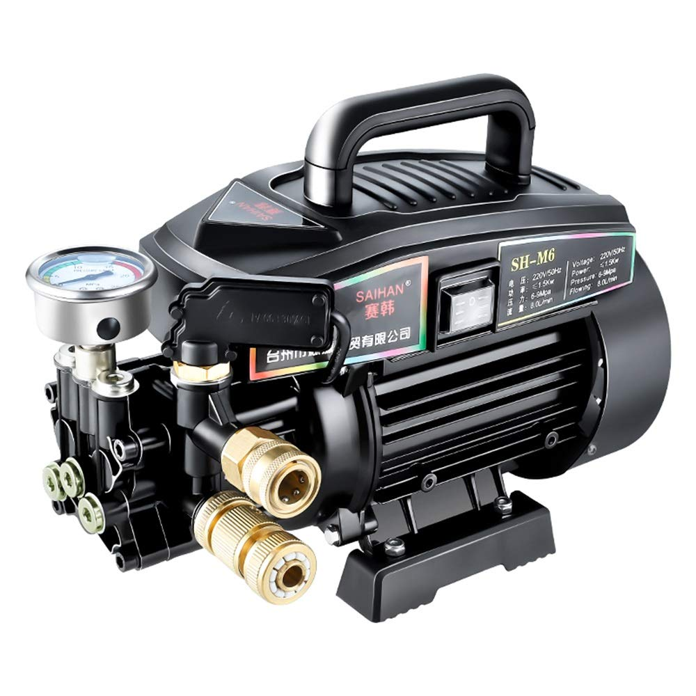 Autolavaggio Lavatrice ad Alta Pressione per Auto a casa 220V Pistola ad Acqua Portatile Spazzola Manuale Ugello Regolabile Lavatrice elettrica, per irrigazione (colore    4)
