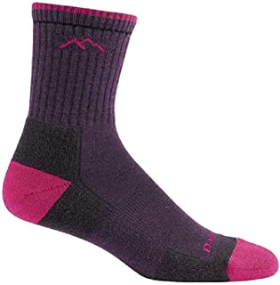 product image for Darn Tough Women's Coolmax Micro Crew Sock Cushion Blackberry/Boysenberry MD