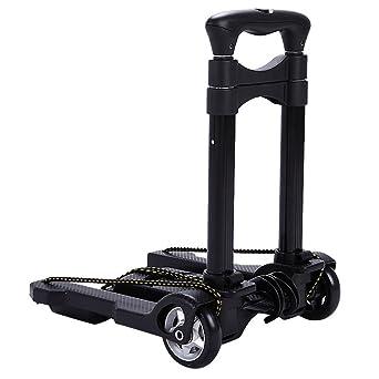 TOPQSC Carretilla portátil plegable Mini Carretilla de aleación de aluminio Carretones pequeños carrito de la compra