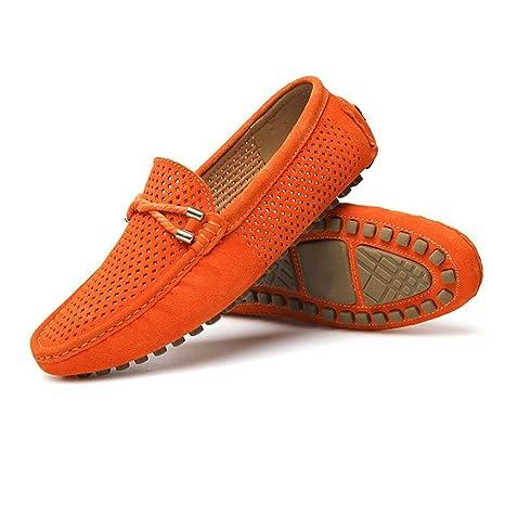 Oudan Zapatos Mocasines para Hombres, Mocasines de conducción Ligeros y cómodos para Hombres Perforación Transpirable