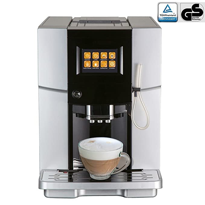 Viesta One Touch 500 dispensador de café máquina de café Cafetera Café Espresso Cappuccino Latte Macchiato - Plata: Amazon.es: Hogar