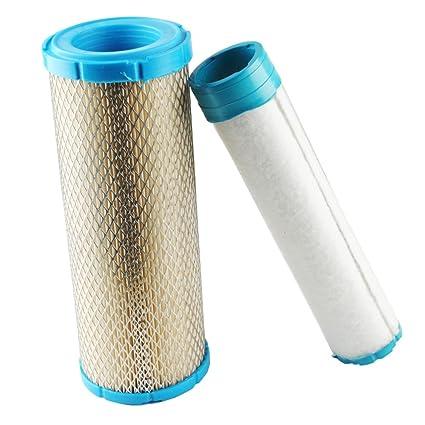 Podoy 25 083 01-S Air Filter & Pre Filter for Kohler 25 083 04-S Kawasaki  11013-7020 11013-7019 Grasshopper Scag Ferris Gravely John Deere Hustler