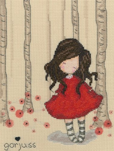 Bothy Threads Gorjuss Poppy Wood Cross Stitch Kit