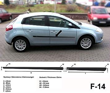 Spangenberg 370001401 - Listones de protección Lateral para Fiat Bravo II 198 Hatchback 5 Puertas, año de fabricación 11.2006 - 06/2014 F14: Amazon.es: ...