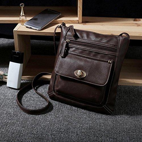 Cross Messenger Satchel Body Bags Single Bag Leather Fashion Bags Handbag Coffee Women's Travel TUDUZ Retro Shoulder Bag Shoulder Totes AAORr4zq