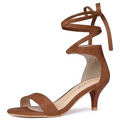 4a4ba546e5d1 Allegra K Women s Lace up Brown Sandals - 6 ...