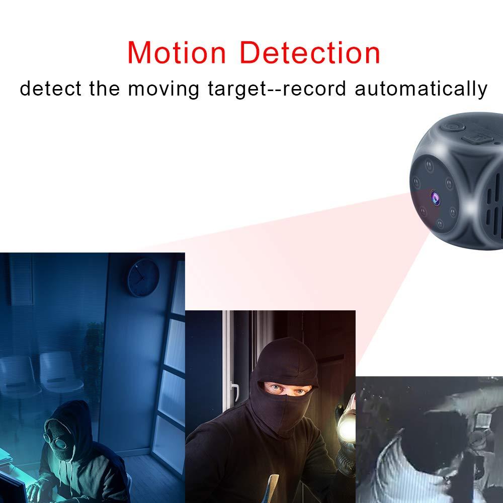 cam/éra de Surveillance ext/érieure Mini cam/éra Espion cam/éra vid/éo de Sport d/étection de Mouvement 1080p HD Surveillance par cam/éra cach/ée avec Vision Nocturne