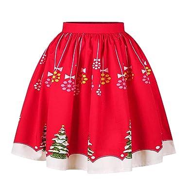 NCTCITY Falda Navidad Vestido De Fiesta Mini Plisada Falda de ...