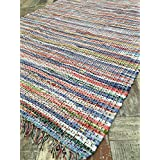 Extra Large 6ft x 9ft Pastel Pale Multi Colour Chindi Rag Rug 180cm x 270cm (Second Nature) by Second Nature Online
