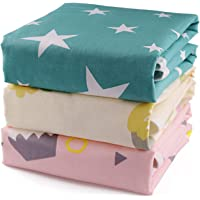 Baby Diaper Changing Pad, Portable Changing Mats Baby, 3 Pack Soft Cotton Breathable Waterproof Multi-Function Mattress…