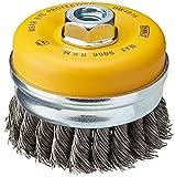 DEWALT DW4916 4'' Knotted Cup Brush/Carbon Steel 5/8''-11 Arbor .020''