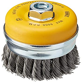 Milwaukee 48-52-1350 4-Inch 5//8-11 Thread Carbon Steel Knot Wire Cup Brush