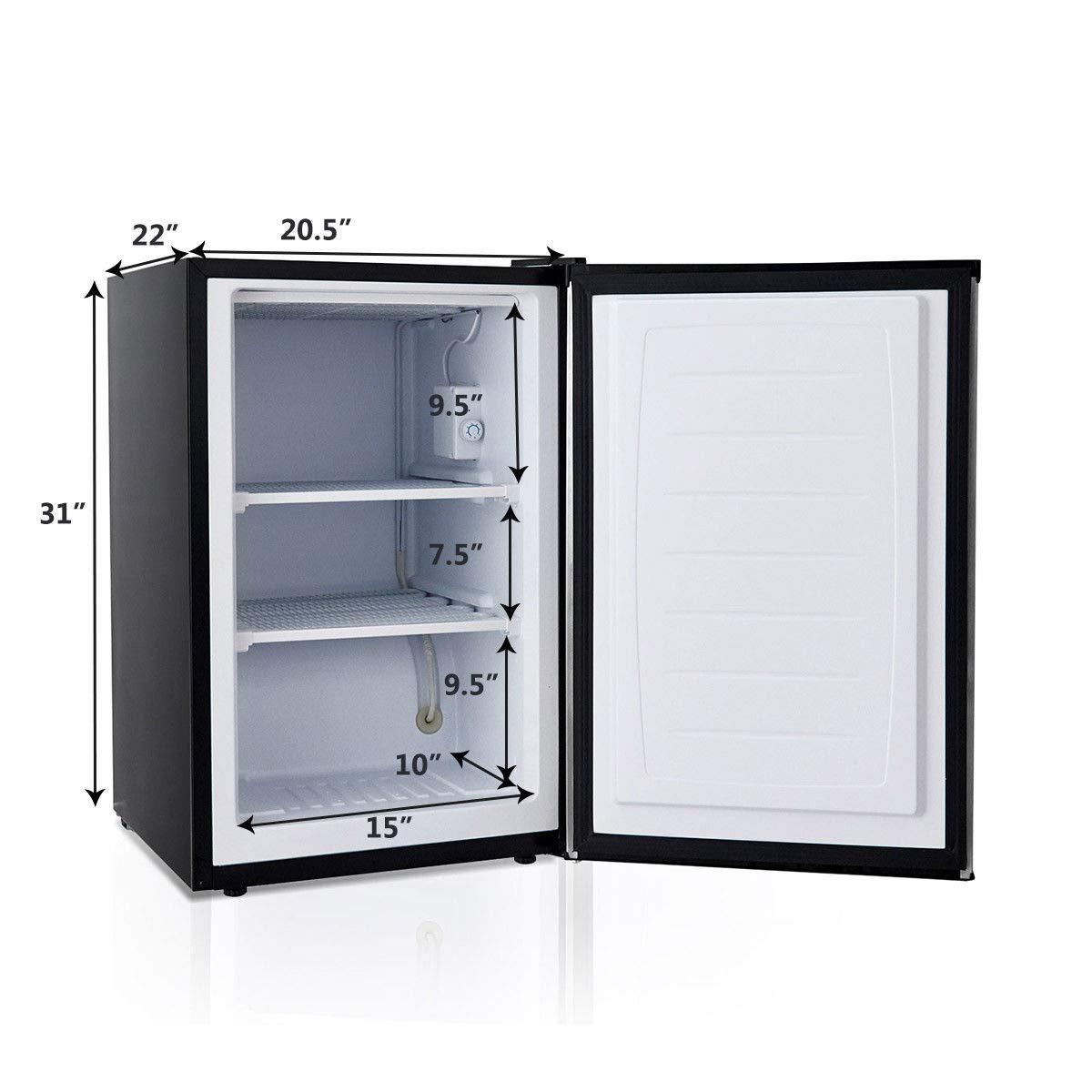 COSTWAY Compact Single Door Upright Freezer - Mini Size with Stainless Steel Door - 3.0 CU FT Capacity - Adjustable by COSTWAY (Image #9)