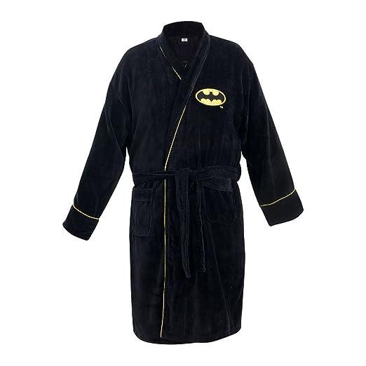 Batman - Mens Batman - Logo Cotton Bathrobe Black