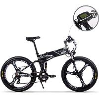 RICH BIT Mans Nouveau modèle de vélo pliant électrique Batterie haute puissance, belle apparence.