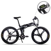JIMAI Rt-860 Mans plegable bicicleta eléctrica, híbrida de montaña MTB bicicleta de doble