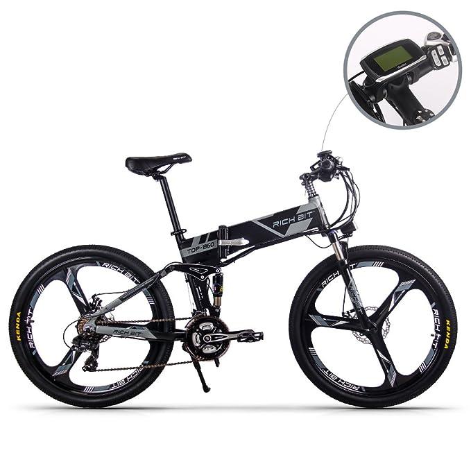 1 opinioni per JIMAI rt-860 uomo bici elettrica pieghevole, mountain ibrida MTB bicicletta