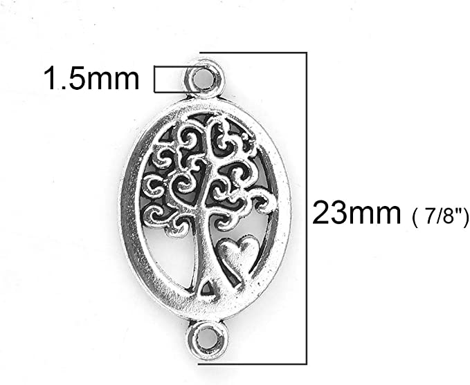 Jewelry Supplies  D16 2 Pcs Branch of tree Tree Connector Sterling silver Tree of Life Charm Connector