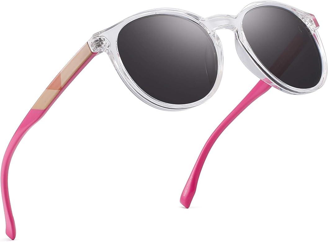 JIM HALO Polarizadas Redondo Gafas de Sol Vintage Círculo Lentes ...