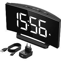 Mpow Reloj Despertador Digital, Reloj de Pantalla Curva