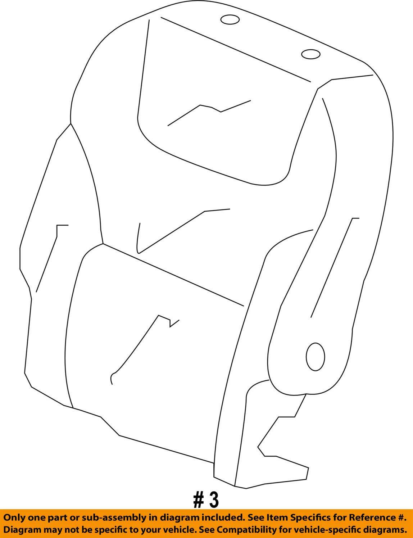 Honda Genuine 81321-TK8-A02ZC Seat Back Trim Cover Right Middle