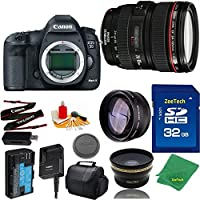 Great Value Bundle for 5D MARK III DSLR – 24-105MM L + 32GB Memory + Wide Angle + Telephoto Lens + Case