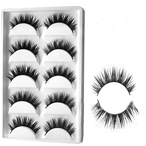 0e1ea4d1437 Buy Wintefei 5 Pairs False Eyelashes Cross Thick Natural Long Eye Lashes  Makeup Beauty Tool Online at Low Prices in India - Amazon.in