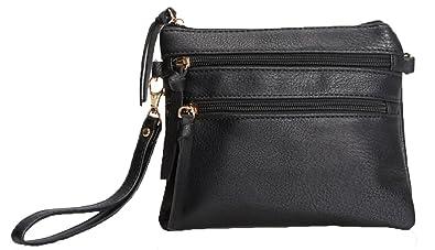 Lily Jane Faux Leather Multi-Pocket Functional Cross Body Bag (Black ... d8c54aba36b53