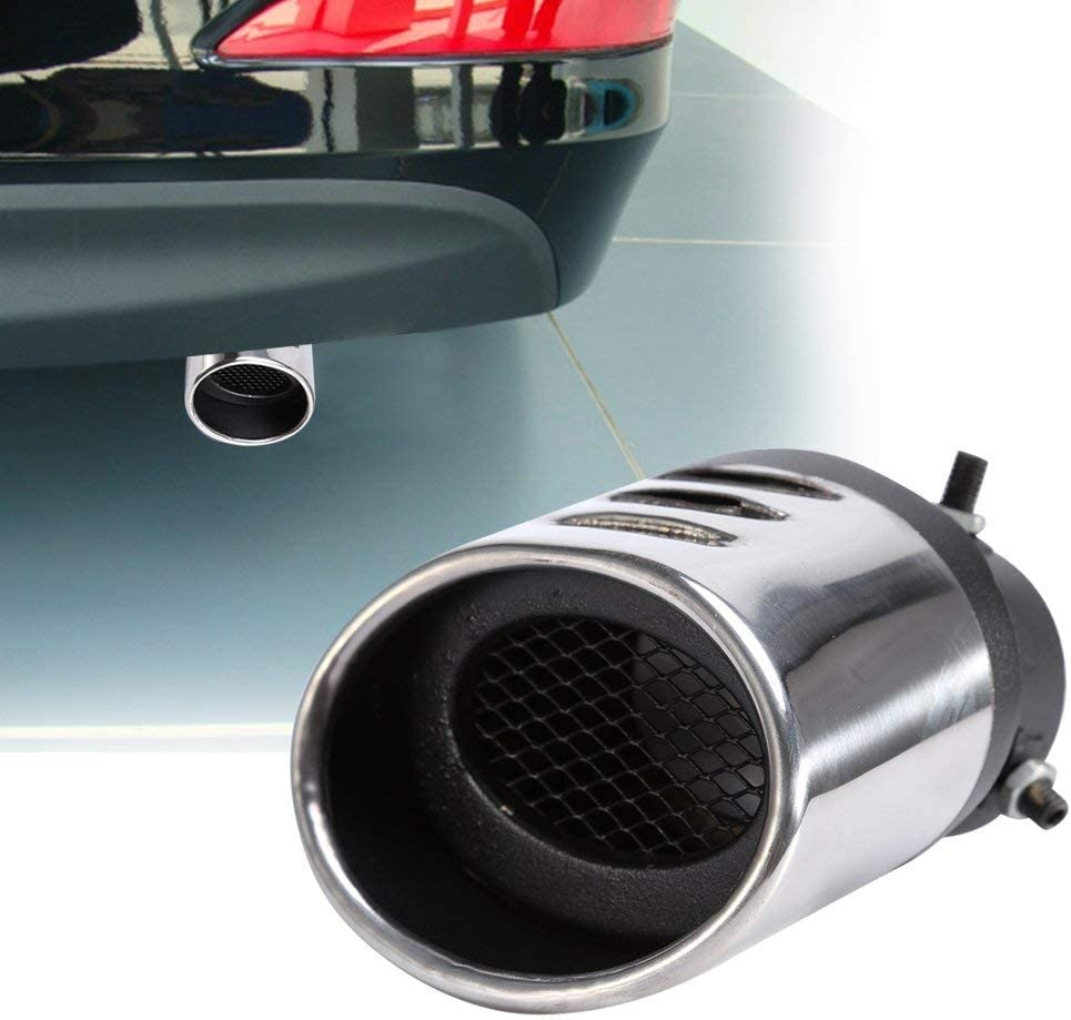 TUANTALL Exhaust Tip Exhaust Tips Car Exhaust Exhaust For Car Mufflers Chrome Exhaust Pipe Ends Exhaust Parts curved