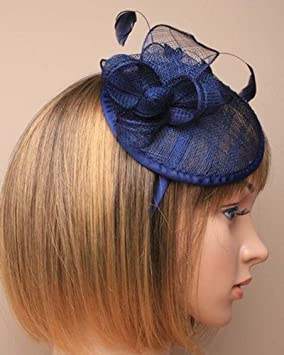 Image Unavailable. Image not available for. Colour  ROUND HATINATOR FASCINATOR  Aliceband ... 9ba2a9339f8