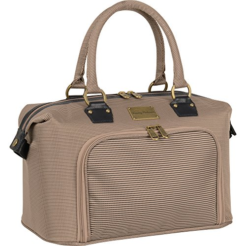 Tommy Bahama Haven 14 Inch Cosmetic Case, Champagne/Navy by Tommy Bahama