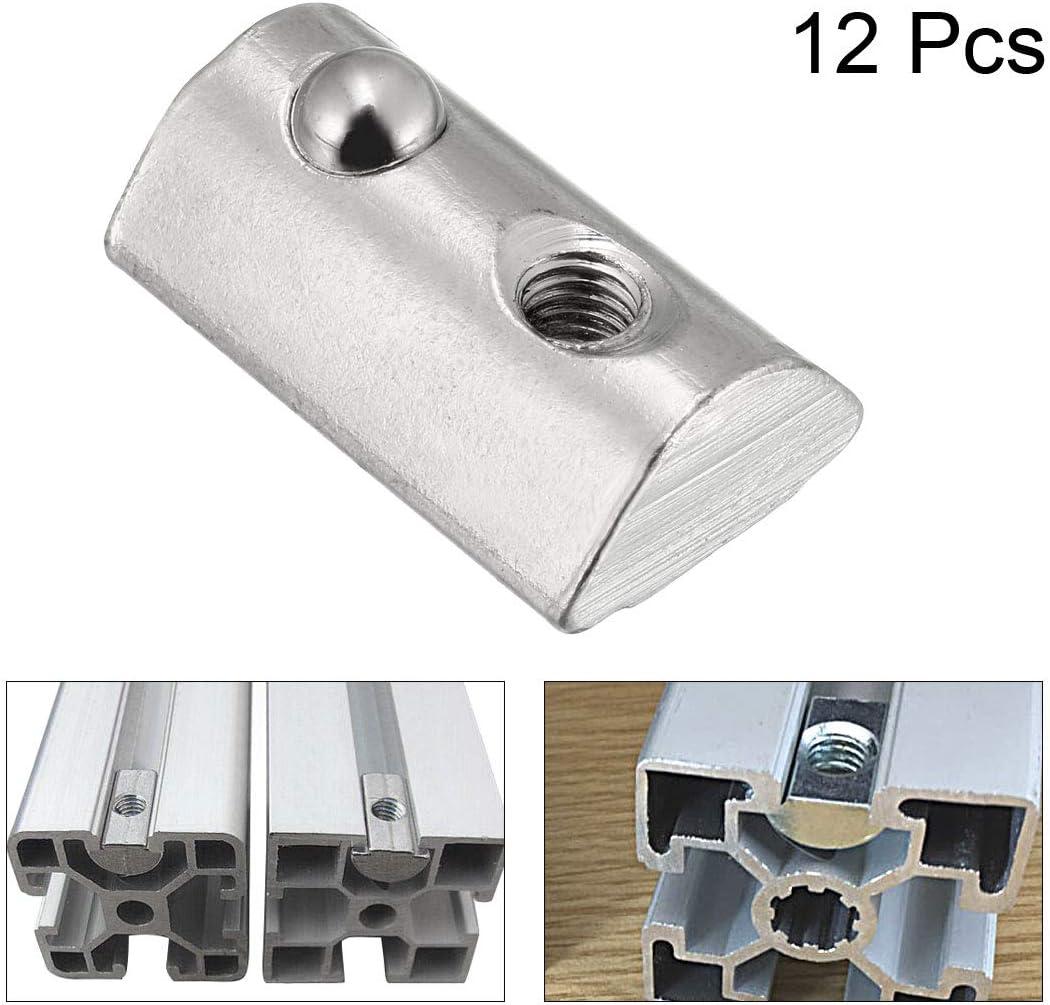 sourcing map M8 Roll Ball /écrous /élastiques s/érie 4040 Profil en aluminium extrud/é 10Pcs