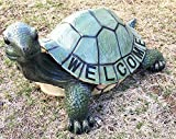Aqua Marine Giant Tortoise Turtle Slow But Steady Welcome Garden Greeter Statue Home And Patio