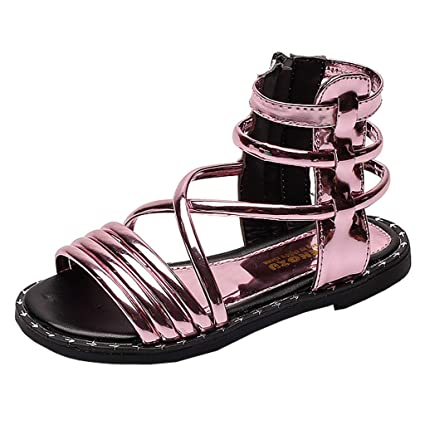 788d9acbc3af Image Unavailable. Image not available for. Color  Toponly Baby Kids Girls  Roman Fashion Gladiator Flat Sandals Summer Casual