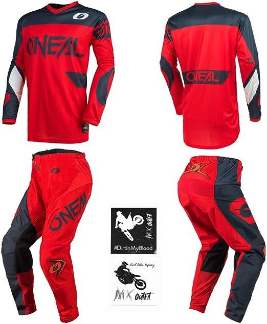 ONeal Youth Element Racewear Motocross Jersey /& Pants Combo Black//Gray