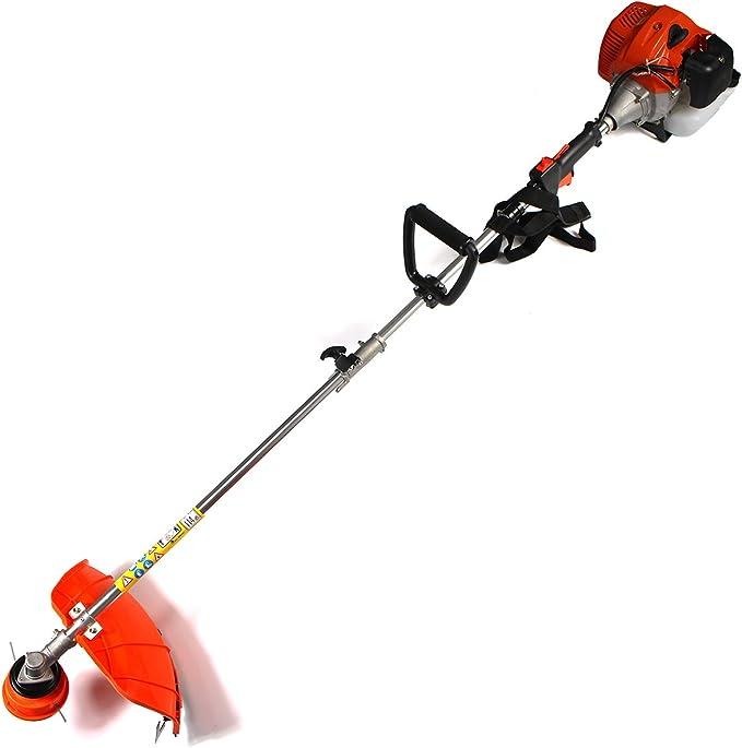 lovard 4 in1 Gasolina dispositivos multifunción sierra de cadena, cortasetos, cortacésped, desbrozadora (Multi Tool: Amazon.es: Jardín