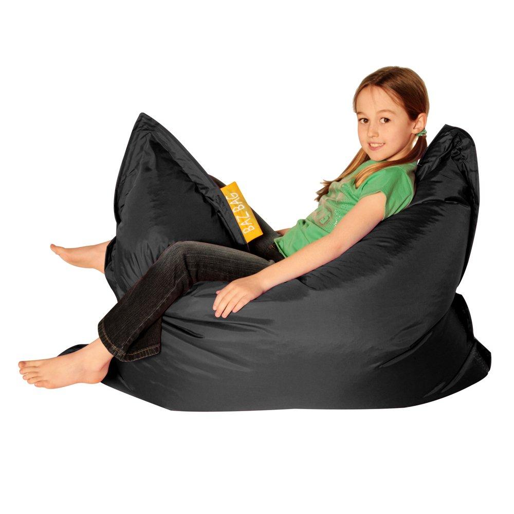 Bean Bag Bazaar® Kids BAZ Bag Noir Pouf–intérieure et extérieure Enfants Sacs de Haricots par 000KBZOD001