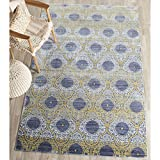 Safavieh Valencia Collection VAL106L Lavender and Gold Vintage Distressed Silky Polyester Area Rug (5′ x 8′)