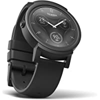 TicWatch E Shadow Smartwatch Wrist Watch Waterproof with 1.4 Inch OLED Display, Android Wear 2.0, Sportswatch Compatible with Android and ios Suitable for Most Types of Smartphone