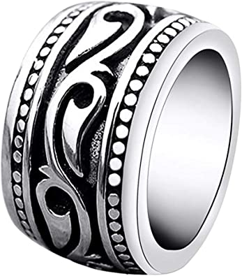 Heavy Stainless Steel Irish Celtic Ring For Men Wide Wedding Band Size #7-13
