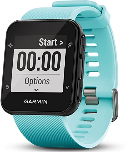 Garmin Forerunner 35 GPS Running Watch with Wrist-Based Heart Rate and Workouts - Blue (Frost Blue)