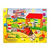 Animal Farm 64 Pieces Brick Set, Creative Designed Animal Figures, Light-Weight & Easy To Play, Ideal For Kids/Children's Educational, Creative & Imaginative Animal Farm Play-set Present For Birthdays, Christmas, & Kids Party Occasions