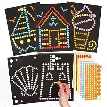 Baker Ross Círculos Adhesivos para Crear escenas Marinas Que los niños Pueden diseñar, Crear y Decorar como Manualidades veraniegas (Pack de 8).